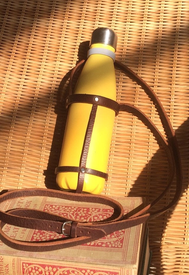 Leather Water Bottle Carrier
