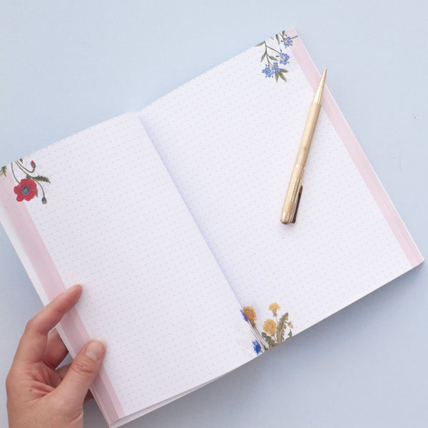 Wildflower Pattern Notebook