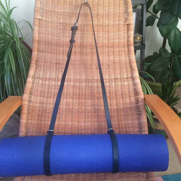 Leather Exercise Mat Sling