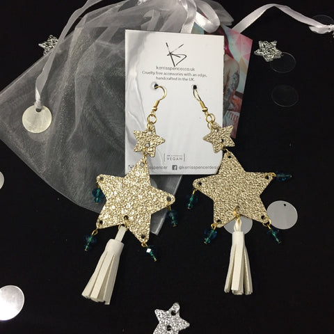 Double Star Earrings (Various Colours)