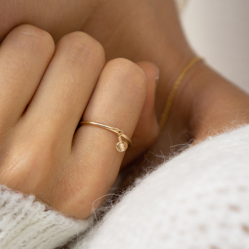 Citrine Dot Ring