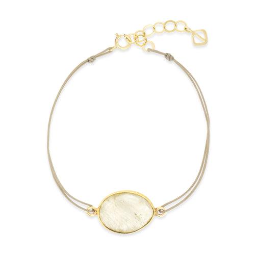 Bailey Button Bracelet - rutile quartz