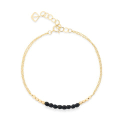 Barberry Bead Bracelet - black