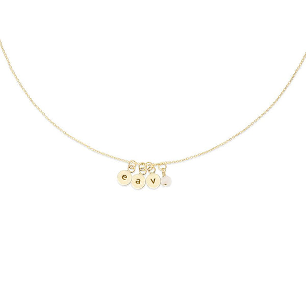 MAKARO Create Your Own - Dainty Initial Necklace - 3 Initialen