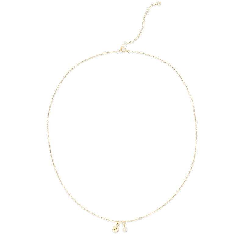 MAKARO Create Your Own - Dainty Initial Necklace