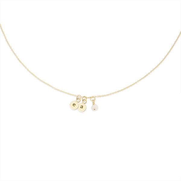 MAKARO Create Your Own - Dainty Initial Necklace - 2 Initialen