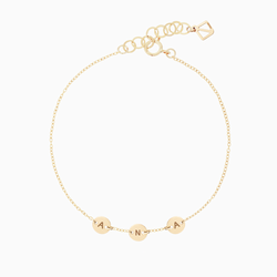 Create Your Own - 3 Initials Bracelet