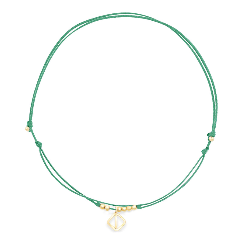 MAKARO Mini Anklet - green
