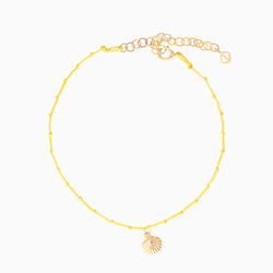 Shell Anklet - Yellow