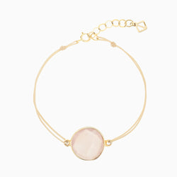 Bailey Button Bracelet - chalcedony