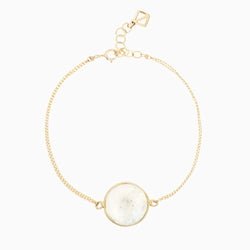 Beady Button Bracelet - moonstone