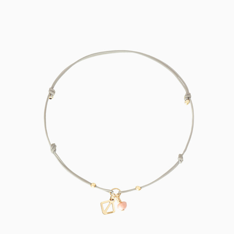 Daisy Dot Bracelet - Light Grey