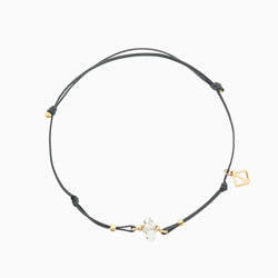 Herkimer Diamond Bracelet - grey