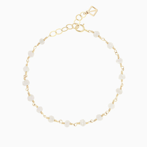 Penny Ball Bracelet - white