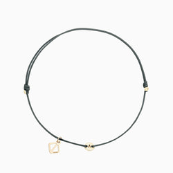 Create Your Own - Tiny Initial Bracelet - Grey