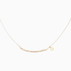 MAKARO m-coded Choker Necklace - light grey