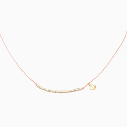 MAKARO m-coded Choker Necklace - light pink