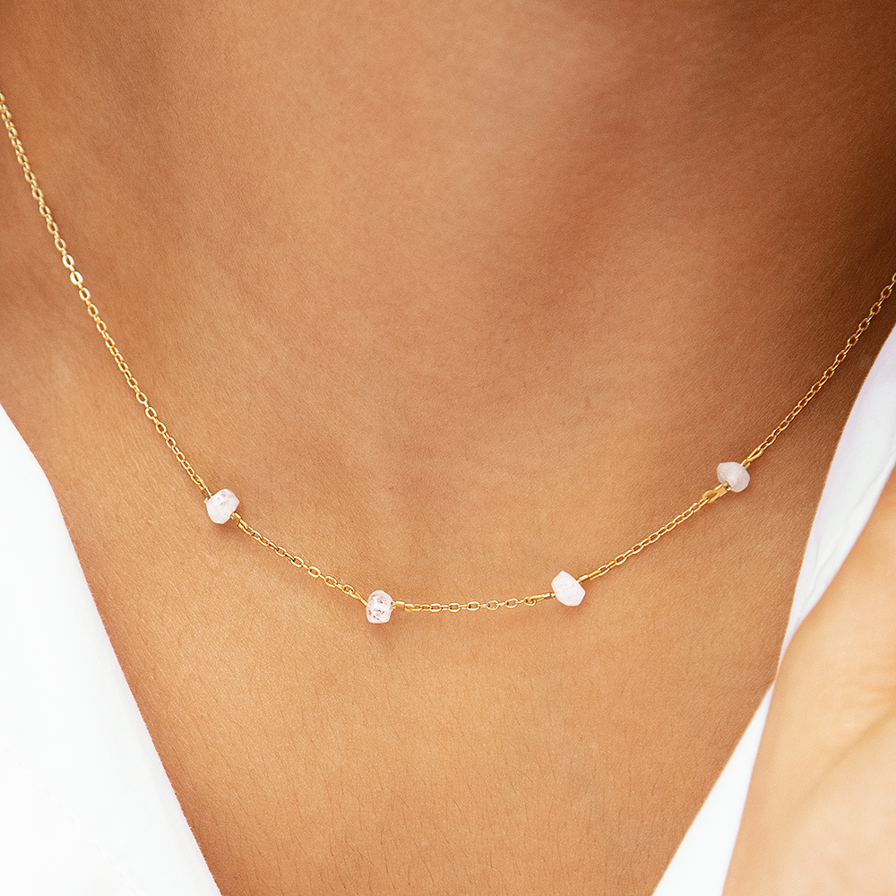 Moonstone Dots Necklace