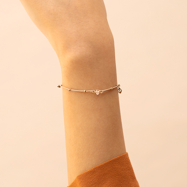 Herkimer Diamond Bracelet - tan