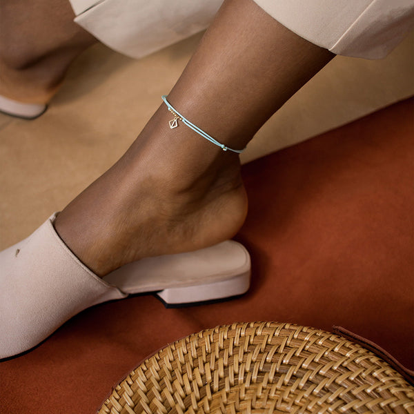 MAKARO Mini Anklet - light blue