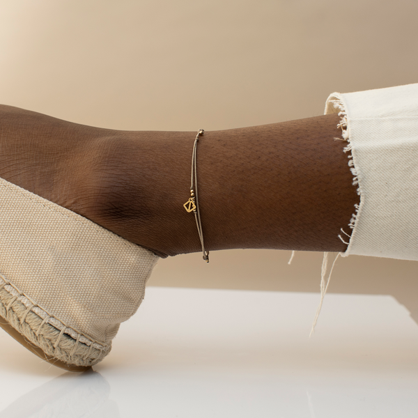 MAKARO Mini Anklet - tan