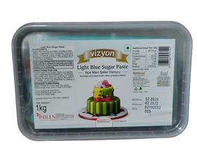 Vizyon Light Blue Sugar Paste 1 kg