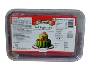Vizyon Red Sugar Paste 1 kg