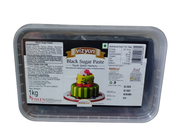 Vizyon Black Sugar Paste 1 kg