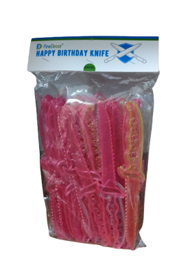 Fine Decor Happy Birthday Knife (Set of 50)