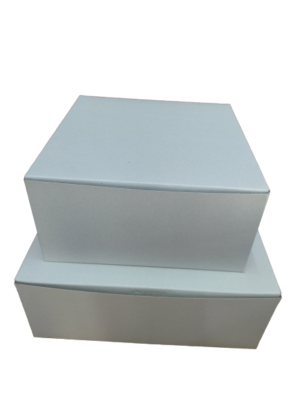 Plain White Cake Box 1 kg - Set of 5 pc