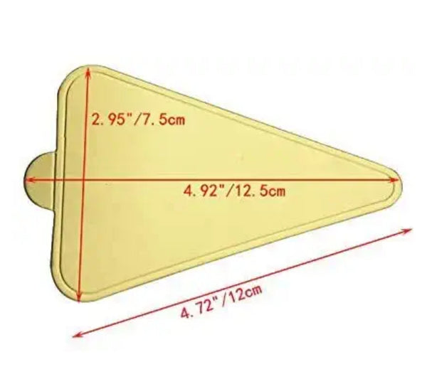 Gold Pastry Base - Triangular pack of 25 pcs
