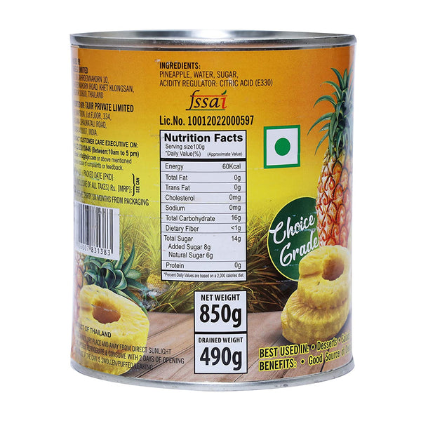Habit Pineapple Slice's 850g