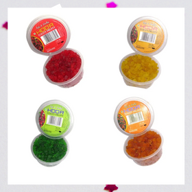 Pack of 4 Tooty Fruity Green, Yellow, Red, Orange - 400 g