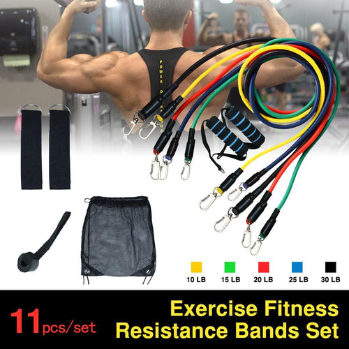 11Pcs Fitness Bands Set