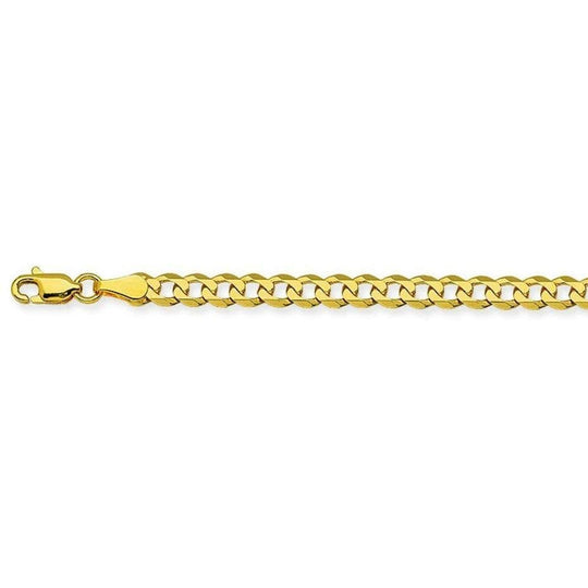 14K Gold Curb Link Necklace 3.7mm