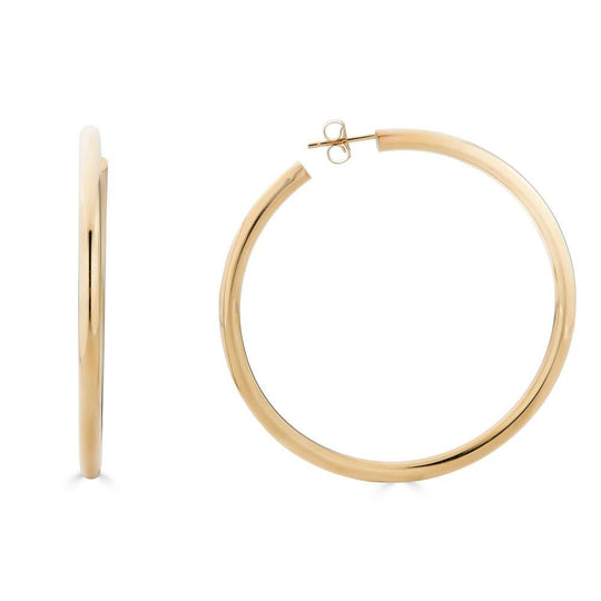 14K Gold 50MM Hoop Earrings