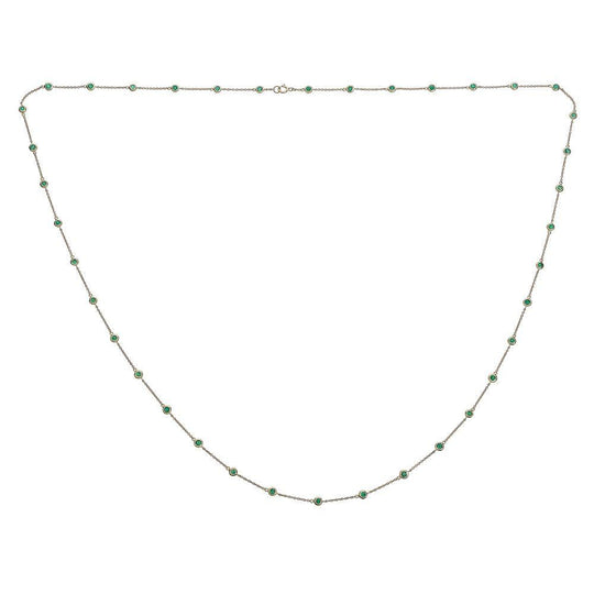 14K Gold Emerald By The Yard Necklace