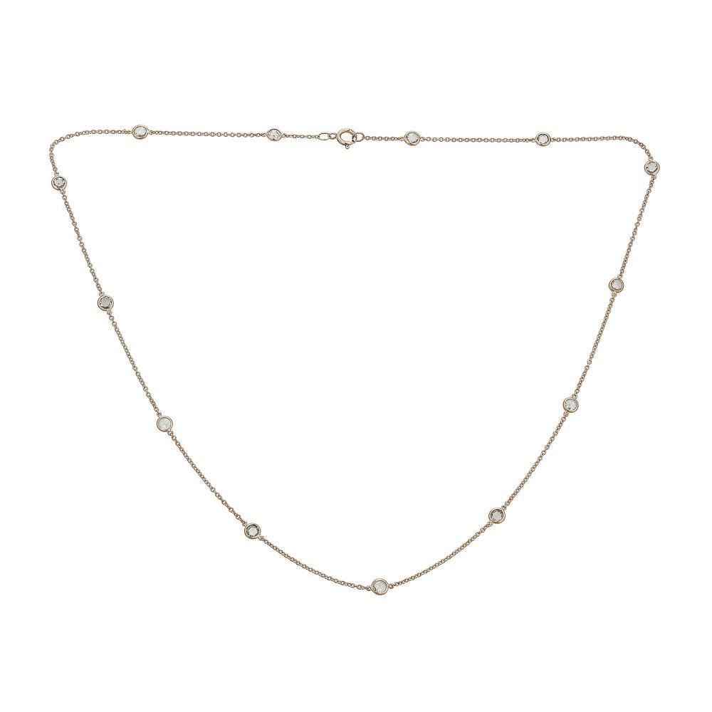 14K Gold Eyeglass Diamond By The Yard Necklace - Alexis Jae