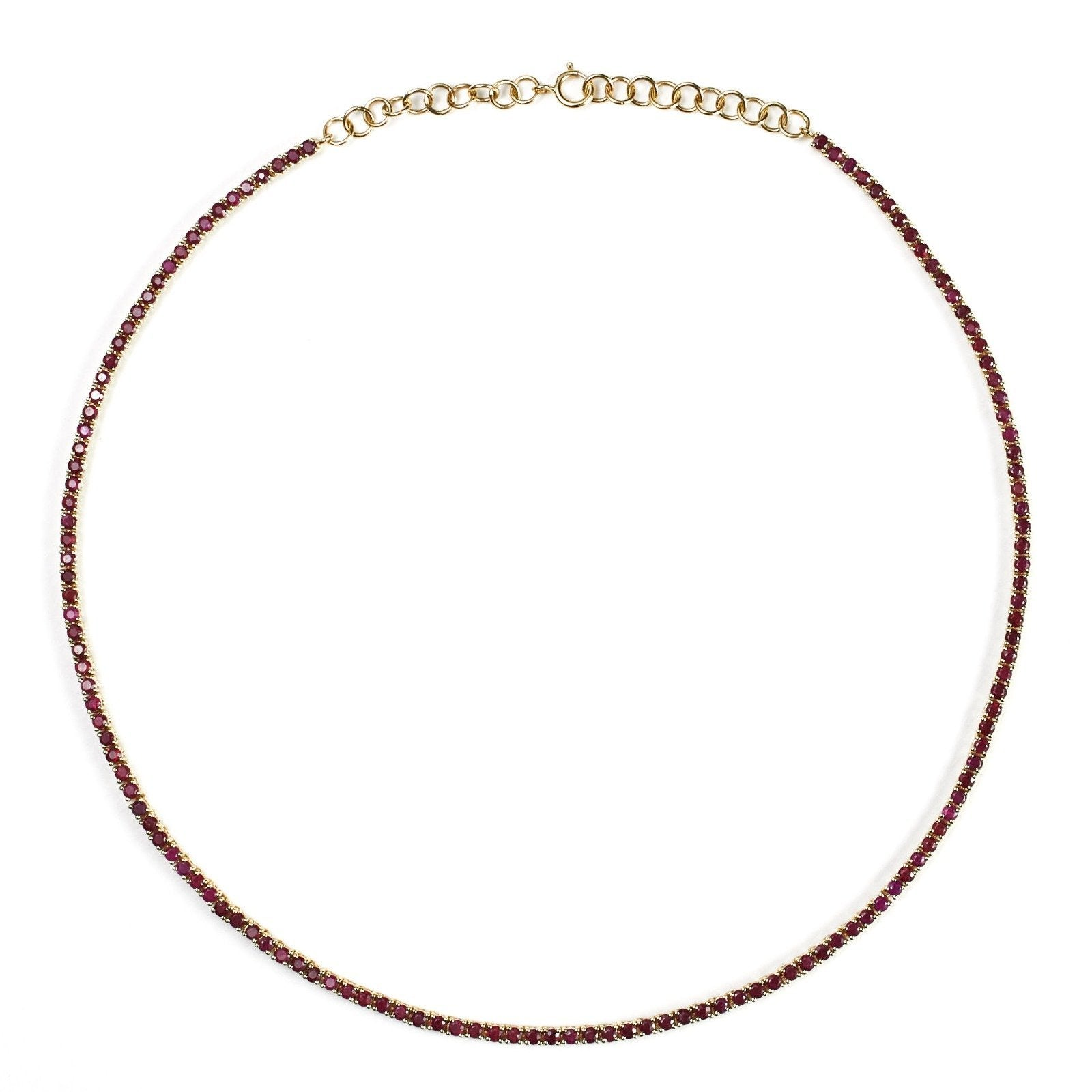 14K Gold Ruby Tennis Necklace - Alexis Jae