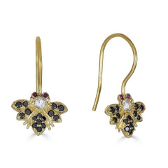 18K Gold Queen Bee Earrings - Alexis Jae