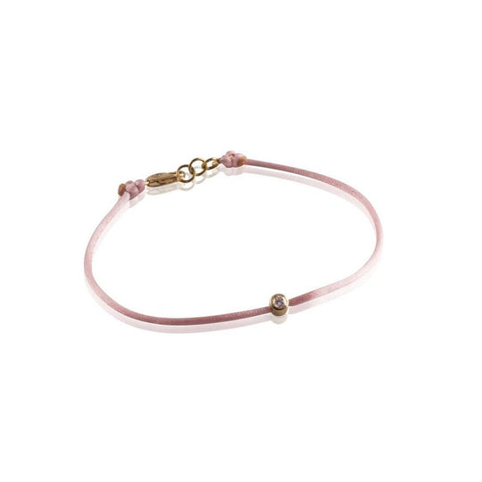 Pink Diamond String Bracelet for Breast Cancer