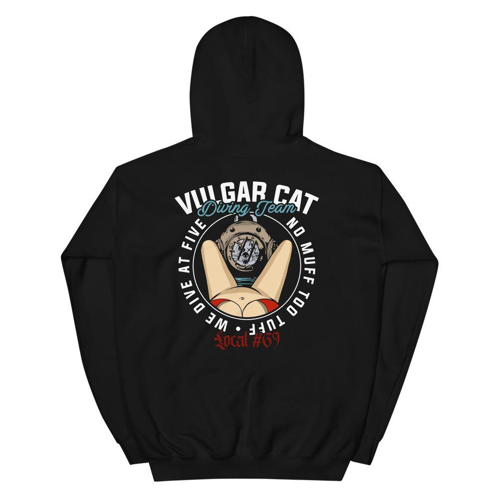 Vulgar Cat - Diving Team (Hoodie) - VulgarCat - #nm2t, #nomufftootuff, diving team, local 69, Los Angeles, no muff too tuff, vulgar cat diving team