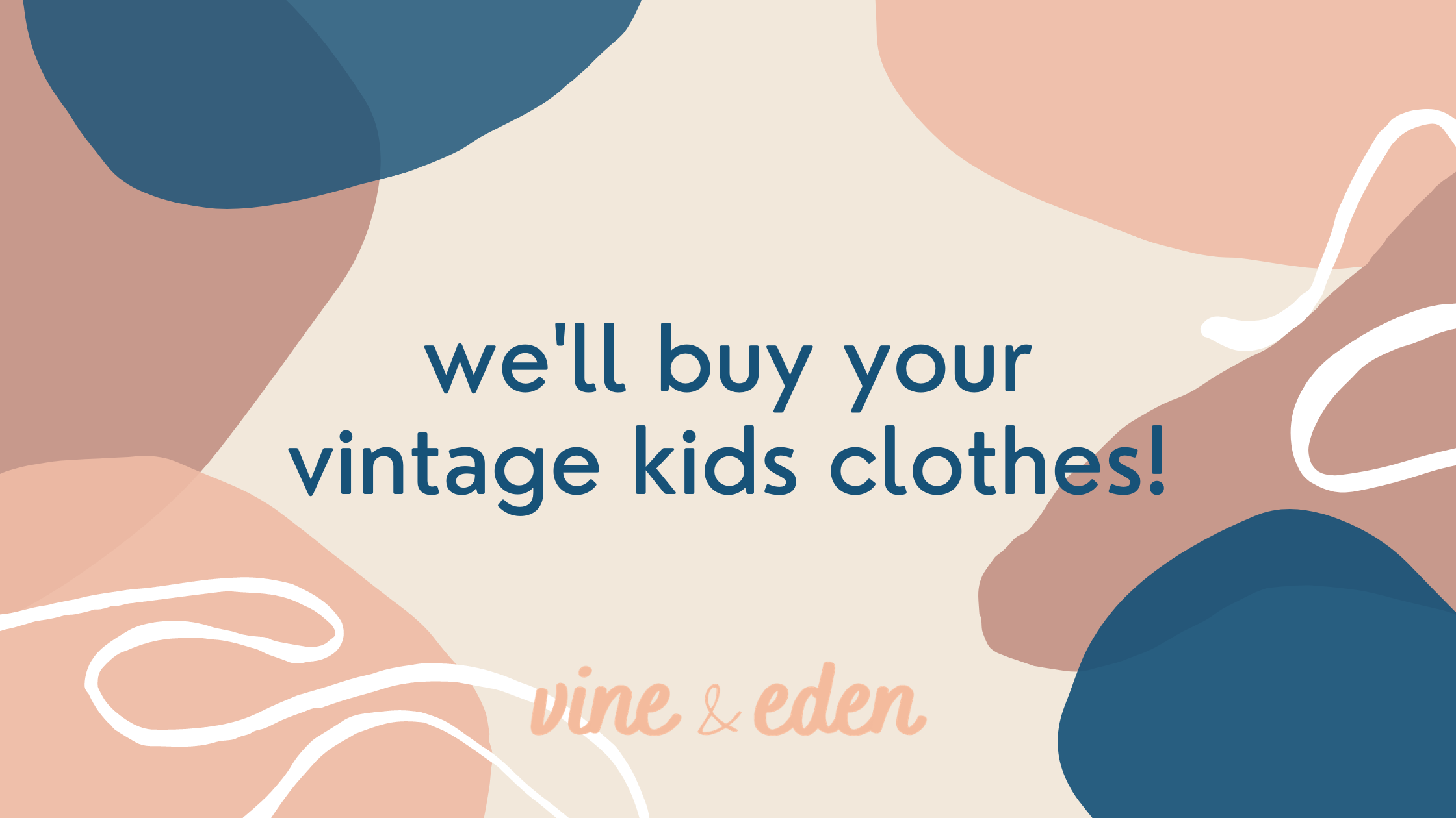 we'll buy your vintage kids clothes!