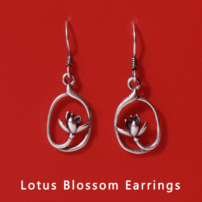 Lotus Blossom Earrings Spiritual Jewelry