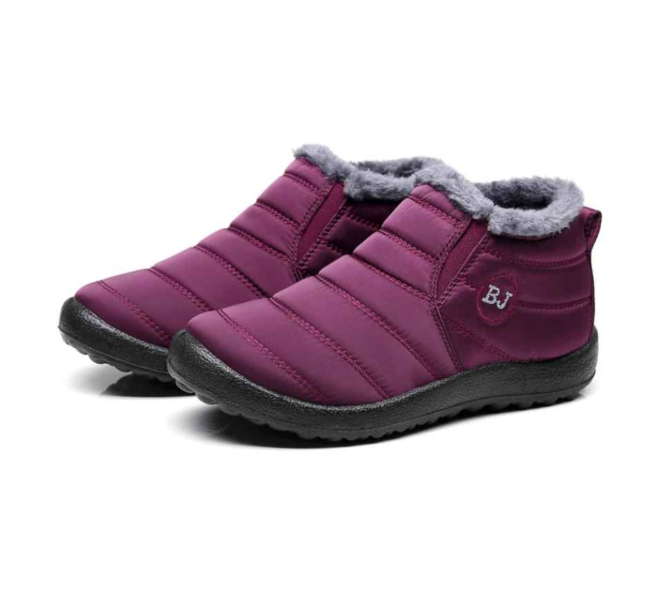 BJ™ Warm Snow Boots,Fur Lining Boots,Waterproof Thickening Winter Shoes for Women and Men