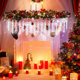 USB Remote Control LED Ice Crystal Christmas Decorations Lights