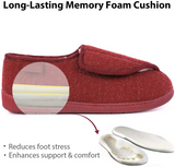 Women's Adjustable Elastic Fleece House Shoes Comfortable Fuzzy Slippers with Memory Foam Insole