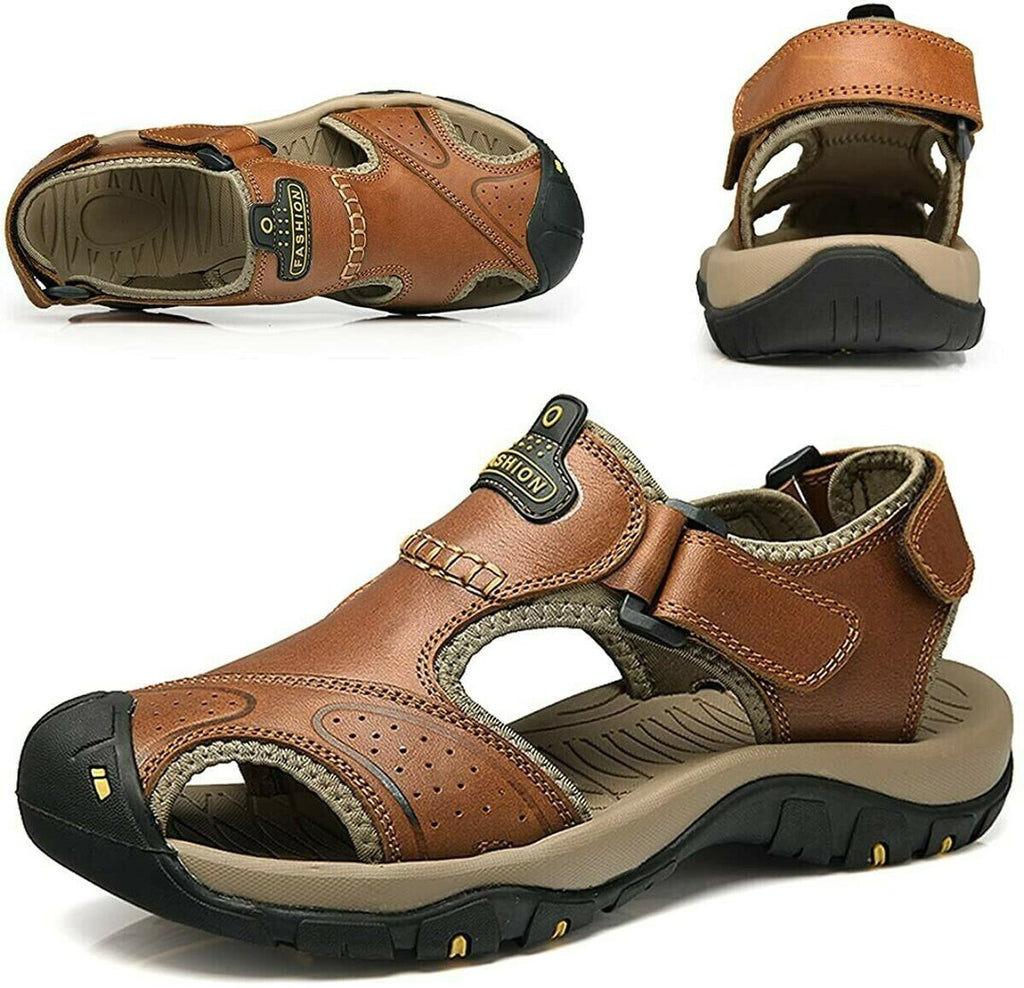 Father's Day Promotion🔥Men Leather Hiking Sandals
