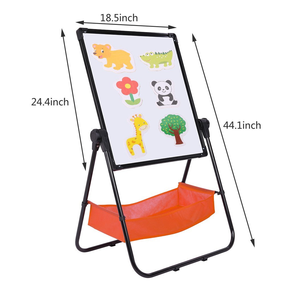 Adjustable Art Easel Whiteboard&Chalkboard Double Sided Stand For Kids(Black)