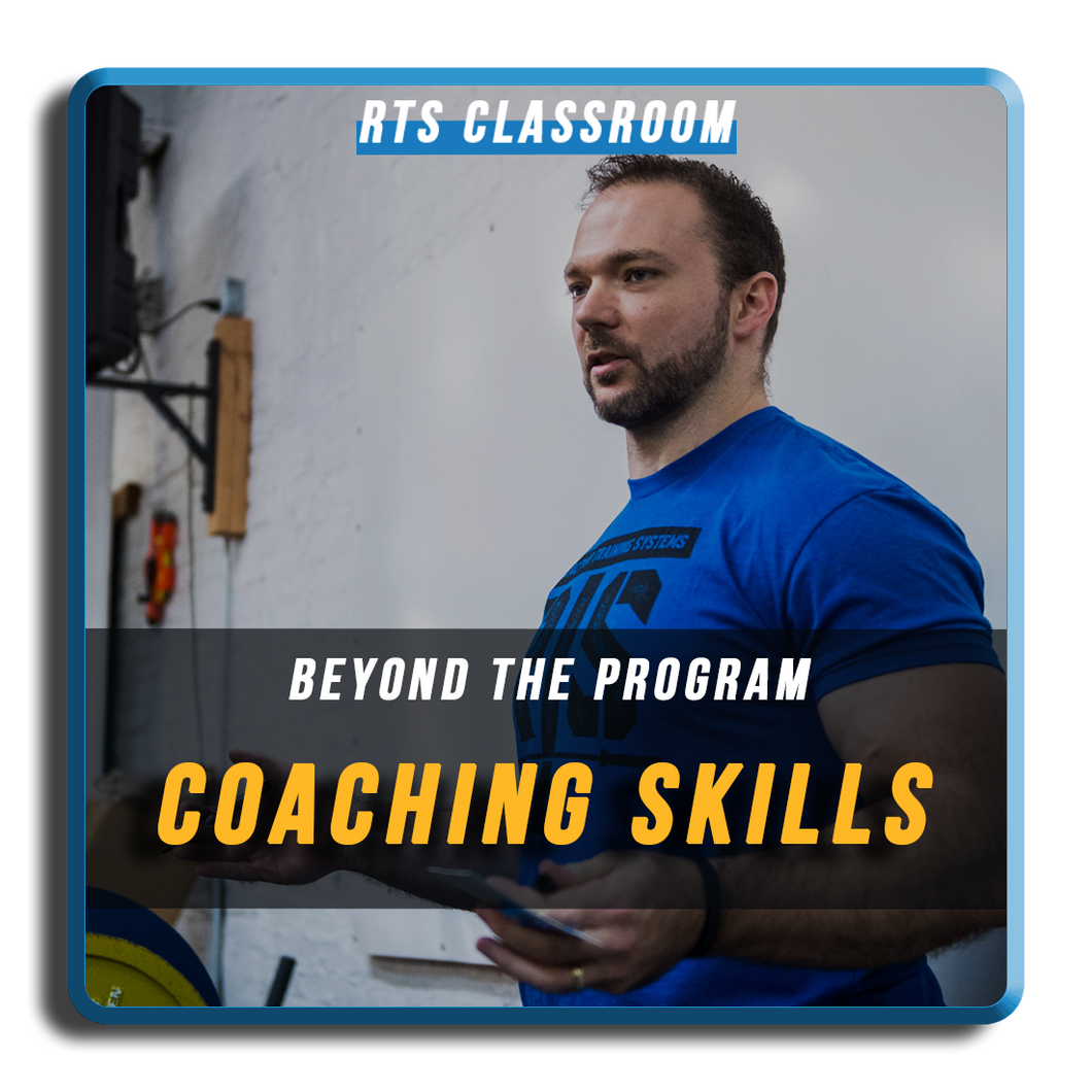 Beyond the Program: Coaching Skills